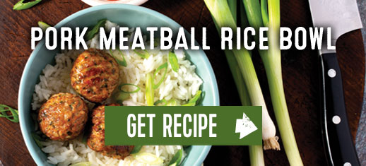 Port Meatball Rice Bowl. Get Recipe.